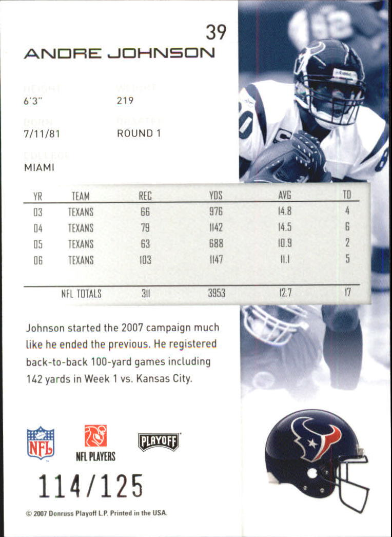 2007-Playoff-NFL-playoffs-Rojo-Metalizado-De-Futbol-Tarjeta-Pick miniatura 79