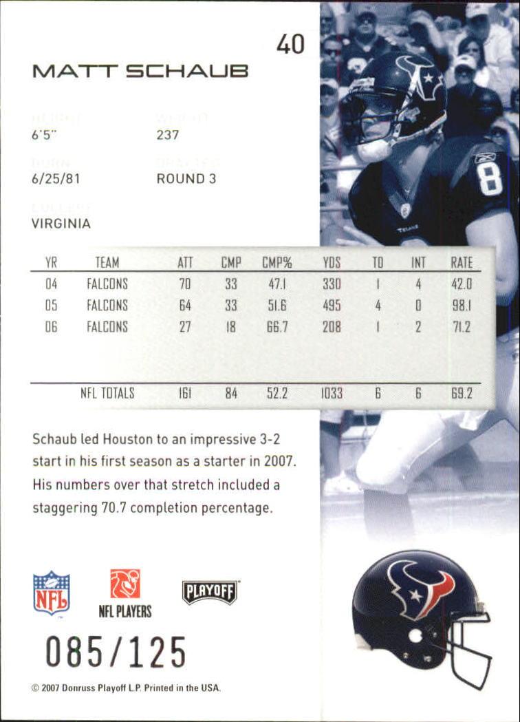 2007-Playoff-NFL-playoffs-Rojo-Metalizado-De-Futbol-Tarjeta-Pick miniatura 81
