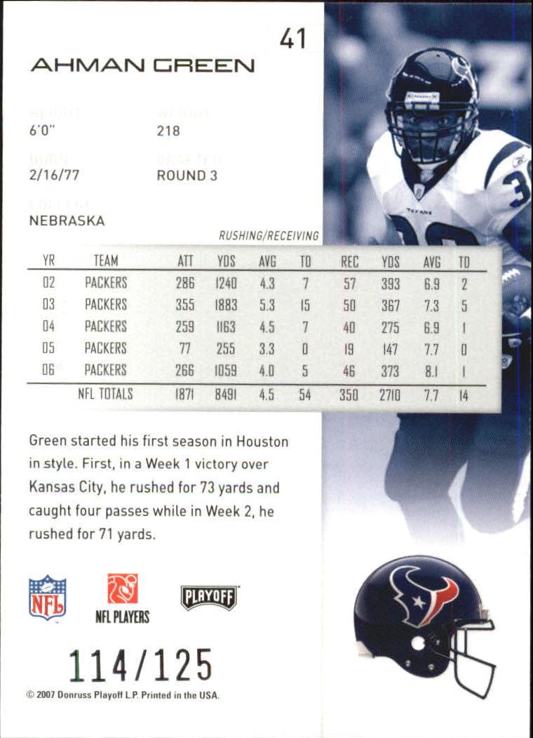 2007-Playoff-NFL-playoffs-Rojo-Metalizado-De-Futbol-Tarjeta-Pick miniatura 83