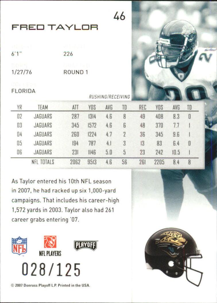 2007-Playoff-NFL-playoffs-Rojo-Metalizado-De-Futbol-Tarjeta-Pick miniatura 93