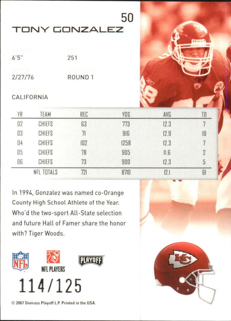 2007-Playoff-NFL-playoffs-Rojo-Metalizado-De-Futbol-Tarjeta-Pick miniatura 101