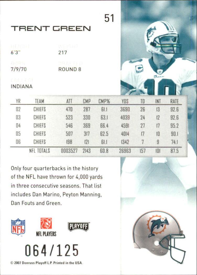 2007-Playoff-NFL-playoffs-Rojo-Metalizado-De-Futbol-Tarjeta-Pick miniatura 103
