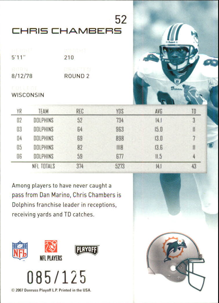 2007-Playoff-NFL-playoffs-Rojo-Metalizado-De-Futbol-Tarjeta-Pick miniatura 105