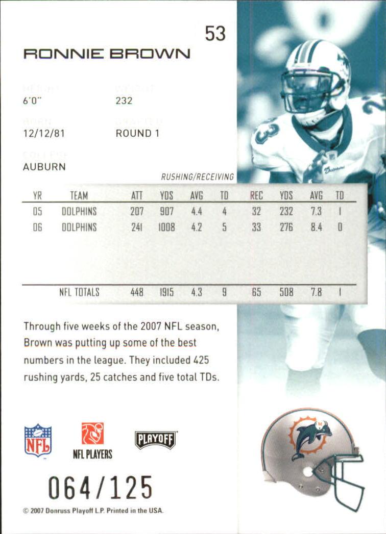 2007-Playoff-NFL-playoffs-Rojo-Metalizado-De-Futbol-Tarjeta-Pick miniatura 107