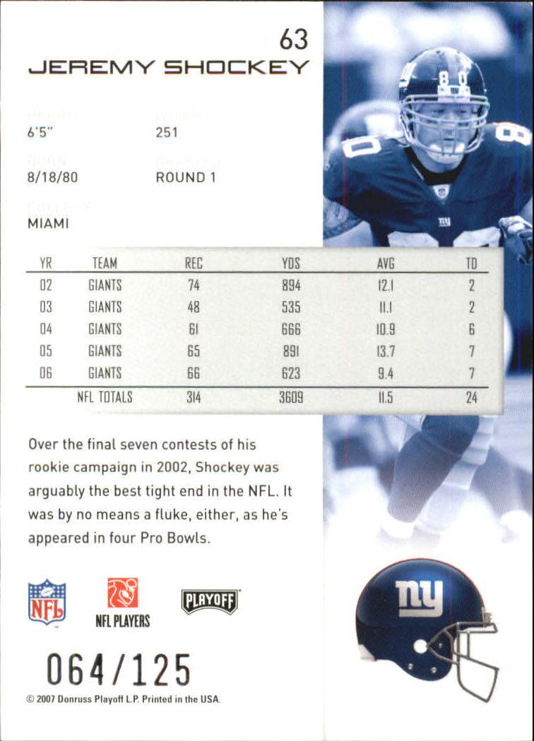 2007-Playoff-NFL-playoffs-Rojo-Metalizado-De-Futbol-Tarjeta-Pick miniatura 127