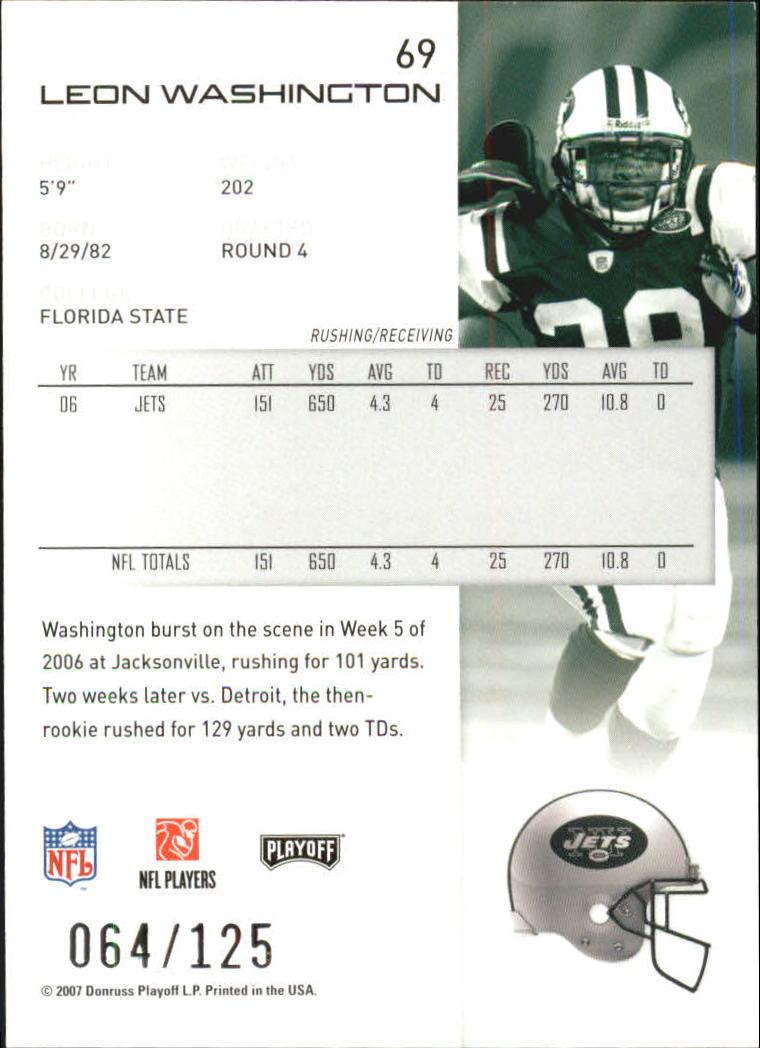 2007-Playoff-NFL-playoffs-Rojo-Metalizado-De-Futbol-Tarjeta-Pick miniatura 139