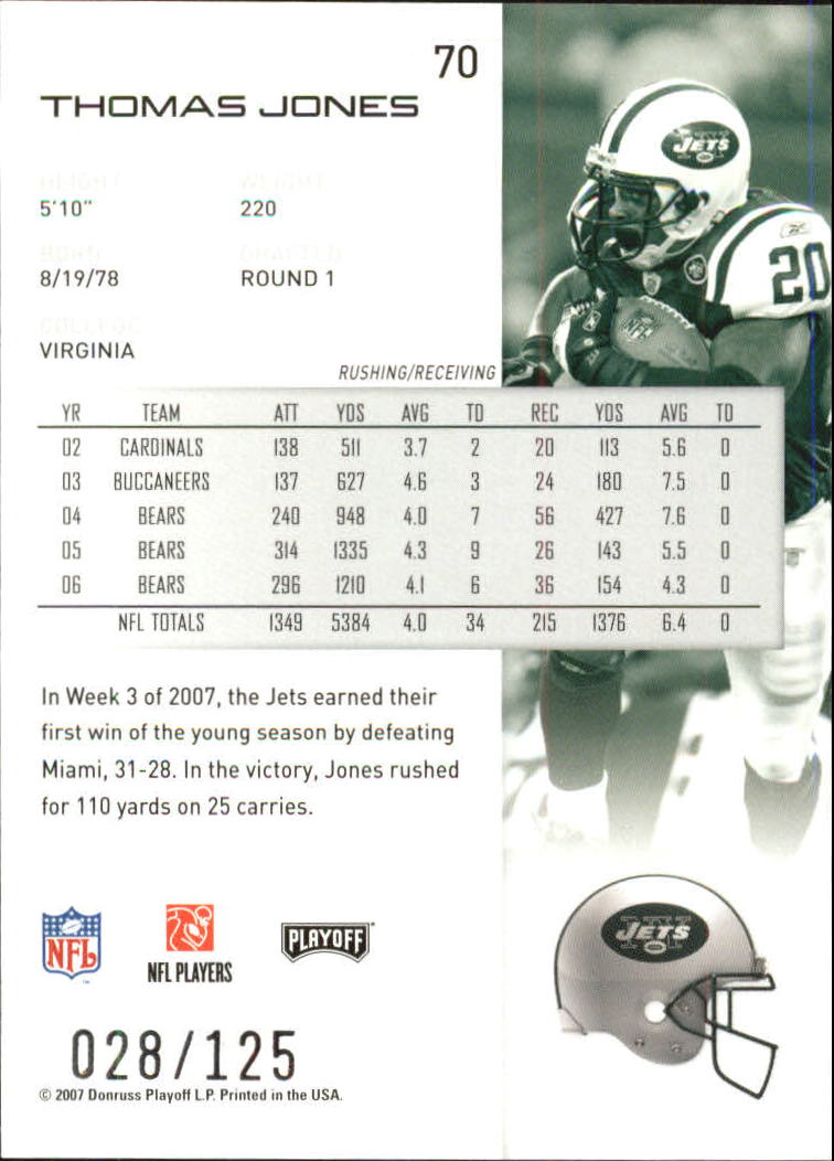 2007-Playoff-NFL-playoffs-Rojo-Metalizado-De-Futbol-Tarjeta-Pick miniatura 141