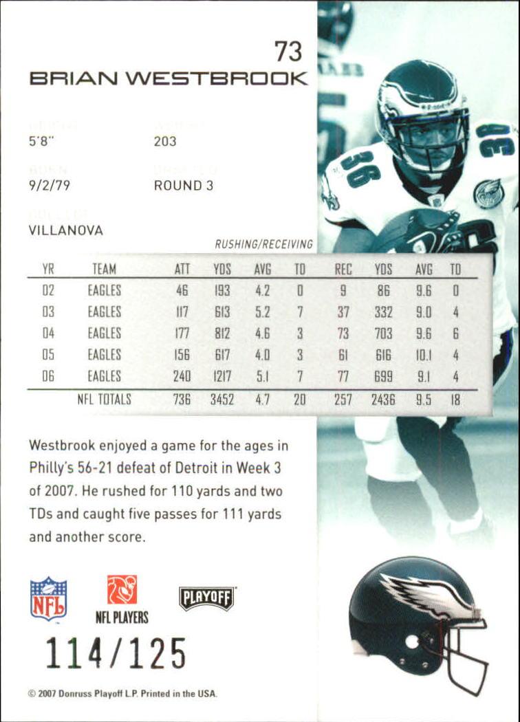 2007-Playoff-NFL-playoffs-Rojo-Metalizado-De-Futbol-Tarjeta-Pick miniatura 147