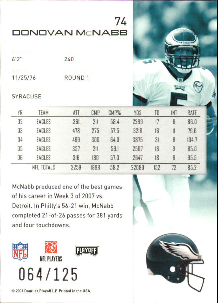 2007-Playoff-NFL-playoffs-Rojo-Metalizado-De-Futbol-Tarjeta-Pick miniatura 149