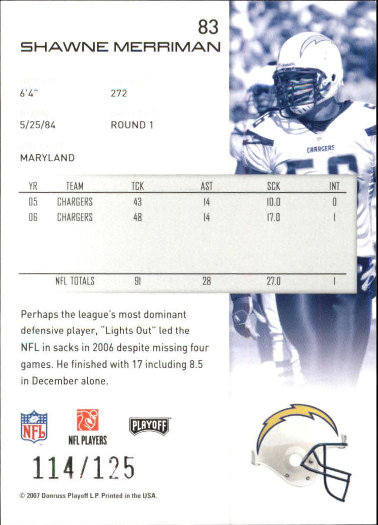 2007-Playoff-NFL-playoffs-Rojo-Metalizado-De-Futbol-Tarjeta-Pick miniatura 167