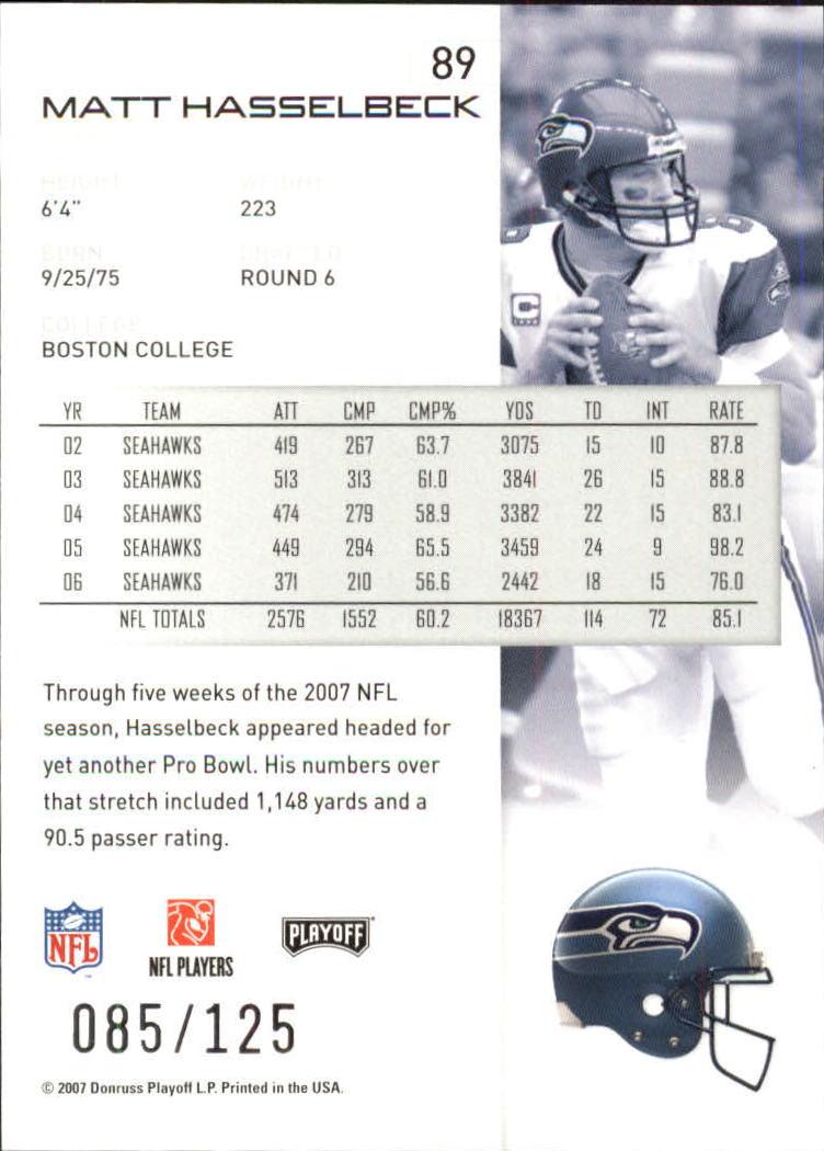 2007-Playoff-NFL-playoffs-Rojo-Metalizado-De-Futbol-Tarjeta-Pick miniatura 179