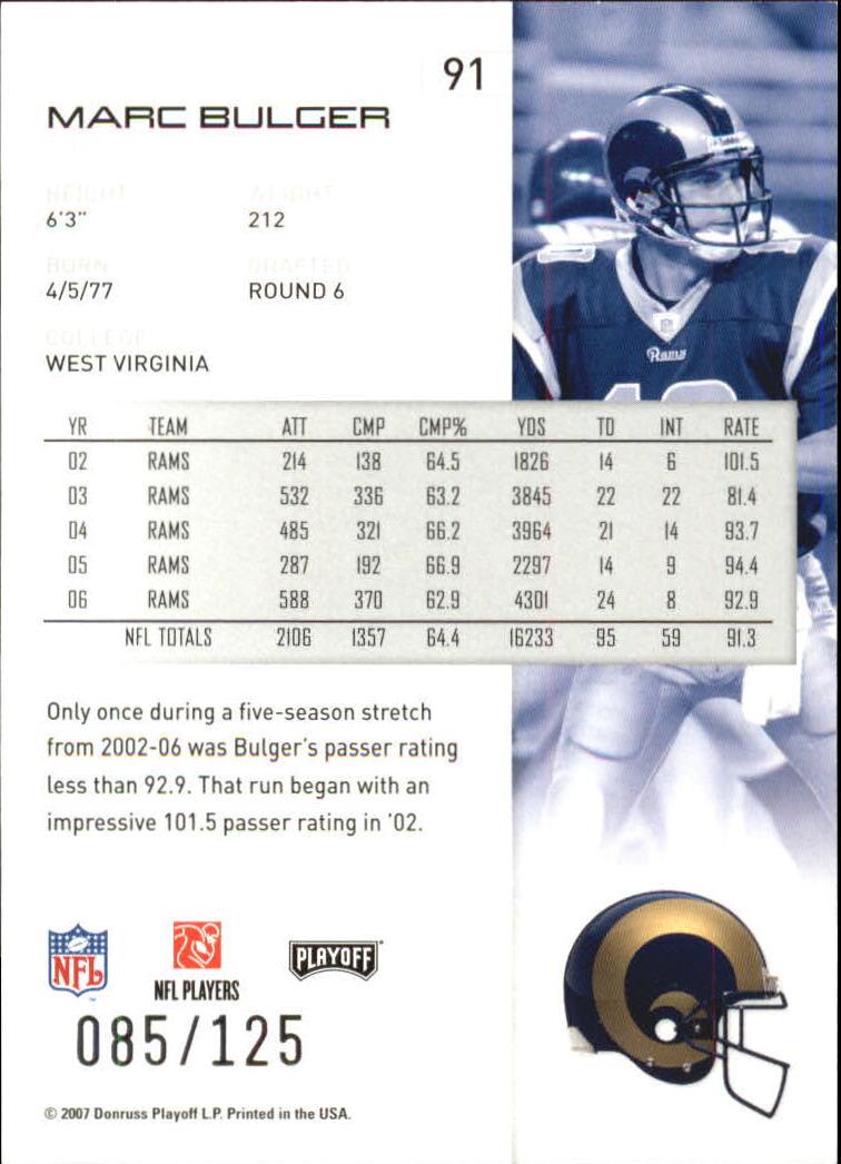 2007-Playoff-NFL-playoffs-Rojo-Metalizado-De-Futbol-Tarjeta-Pick miniatura 183
