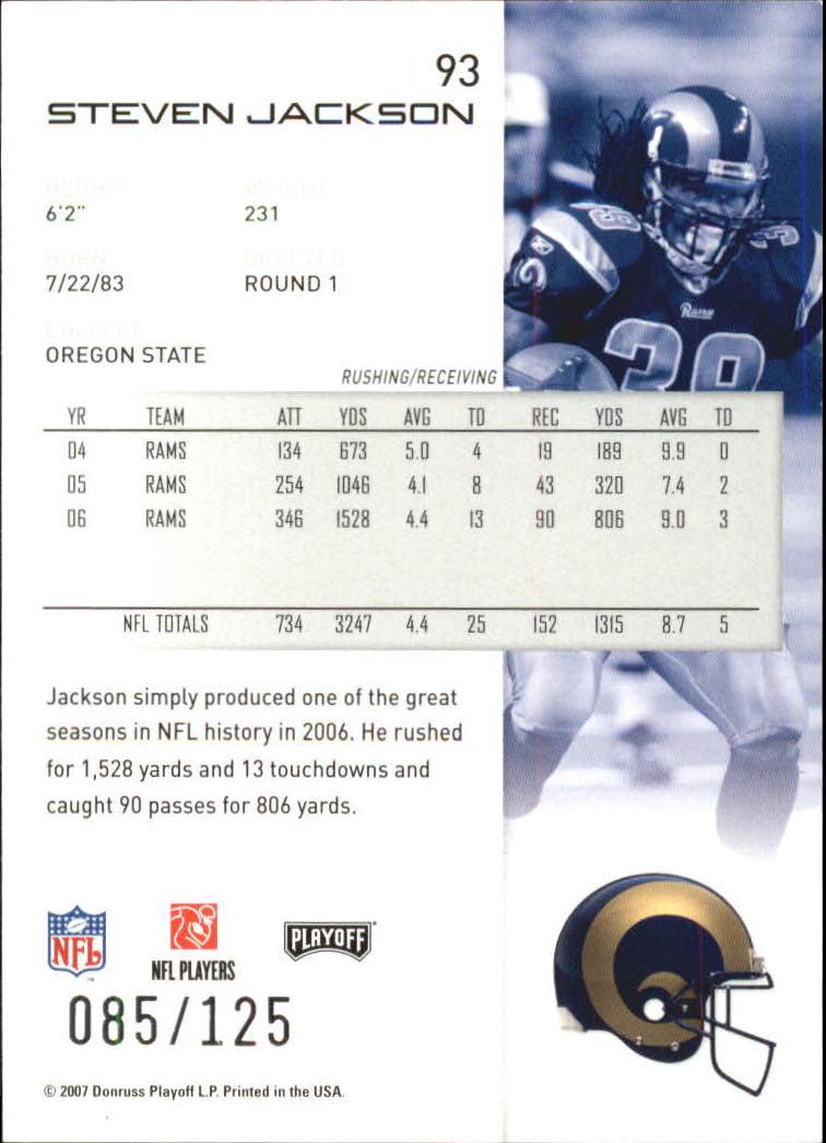 2007-Playoff-NFL-playoffs-Rojo-Metalizado-De-Futbol-Tarjeta-Pick miniatura 187