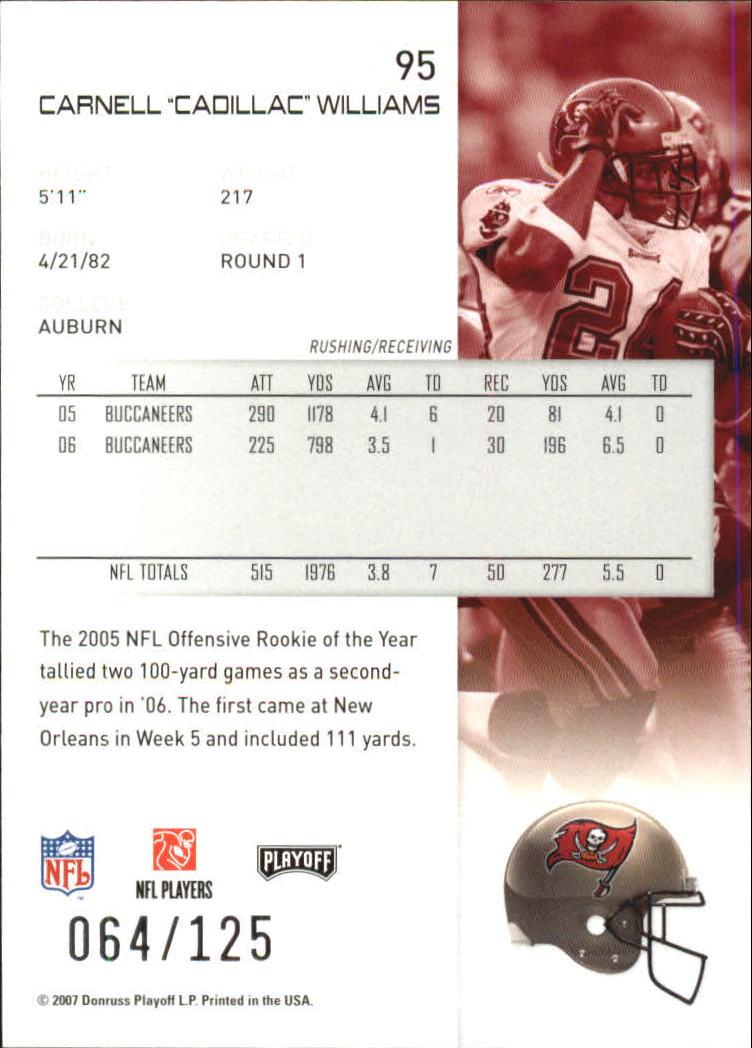 2007-Playoff-NFL-playoffs-Rojo-Metalizado-De-Futbol-Tarjeta-Pick miniatura 191