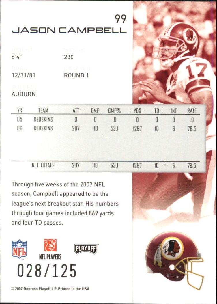 2007-Playoff-NFL-playoffs-Rojo-Metalizado-De-Futbol-Tarjeta-Pick miniatura 199