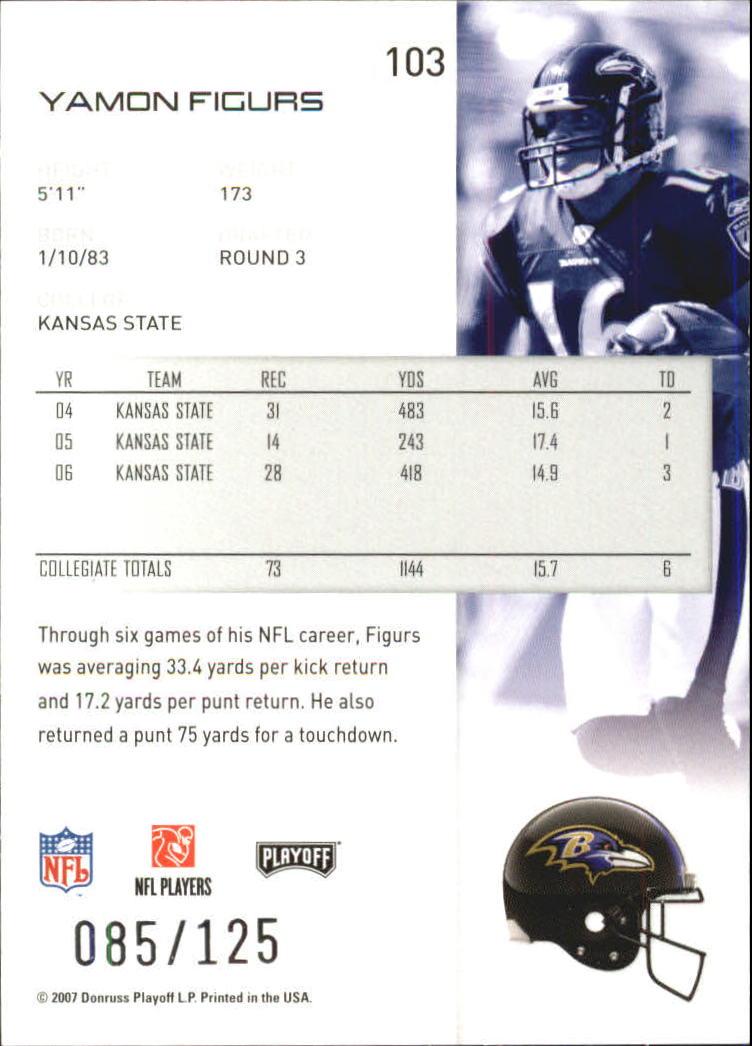 2007-Playoff-NFL-playoffs-Rojo-Metalizado-De-Futbol-Tarjeta-Pick miniatura 207
