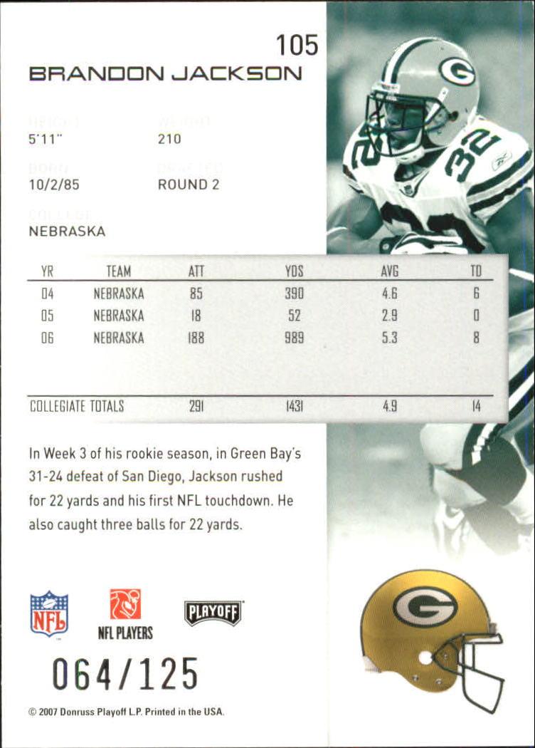 2007-Playoff-NFL-playoffs-Rojo-Metalizado-De-Futbol-Tarjeta-Pick miniatura 211