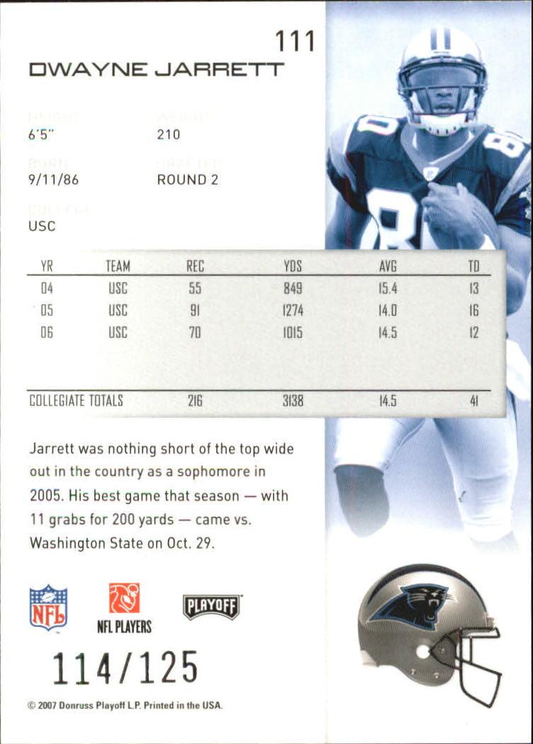 2007-Playoff-NFL-playoffs-Rojo-Metalizado-De-Futbol-Tarjeta-Pick miniatura 223