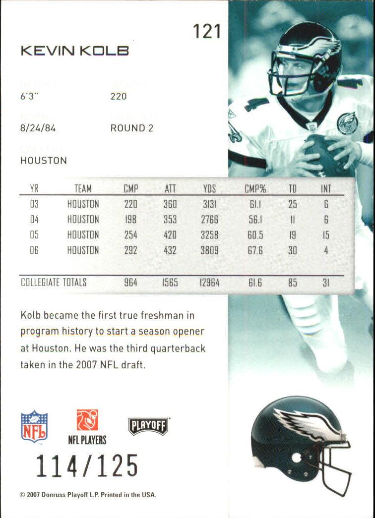 2007-Playoff-NFL-playoffs-Rojo-Metalizado-De-Futbol-Tarjeta-Pick miniatura 243