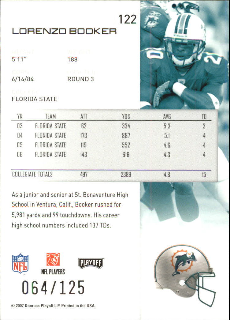 2007-Playoff-NFL-playoffs-Rojo-Metalizado-De-Futbol-Tarjeta-Pick miniatura 245