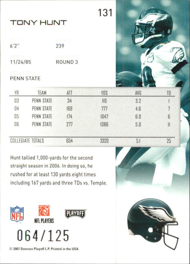 2007-Playoff-NFL-playoffs-Rojo-Metalizado-De-Futbol-Tarjeta-Pick miniatura 263