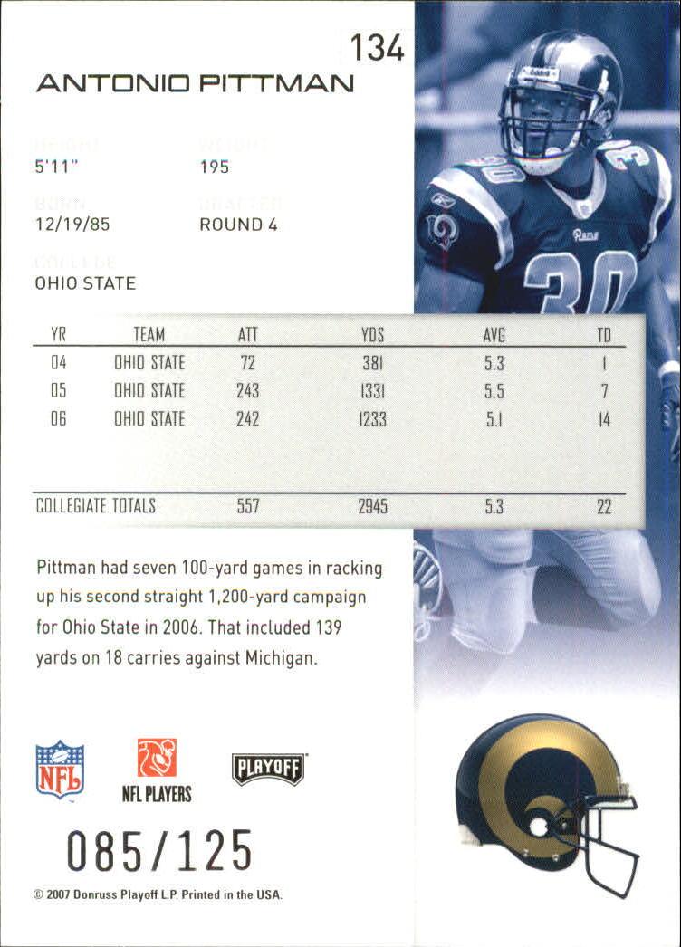 2007-Playoff-NFL-playoffs-Rojo-Metalizado-De-Futbol-Tarjeta-Pick miniatura 269