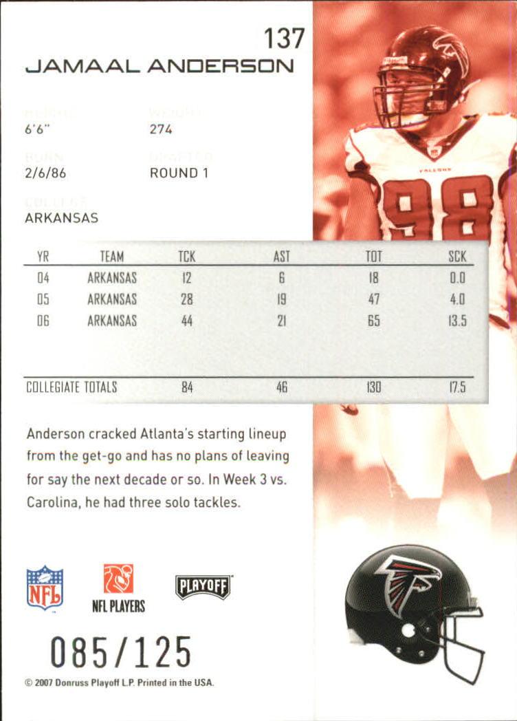 2007-Playoff-NFL-playoffs-Rojo-Metalizado-De-Futbol-Tarjeta-Pick miniatura 275