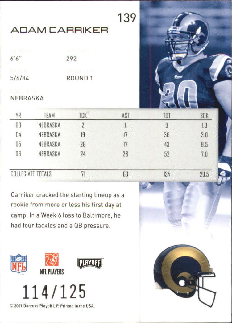 2007-Playoff-NFL-playoffs-Rojo-Metalizado-De-Futbol-Tarjeta-Pick miniatura 279