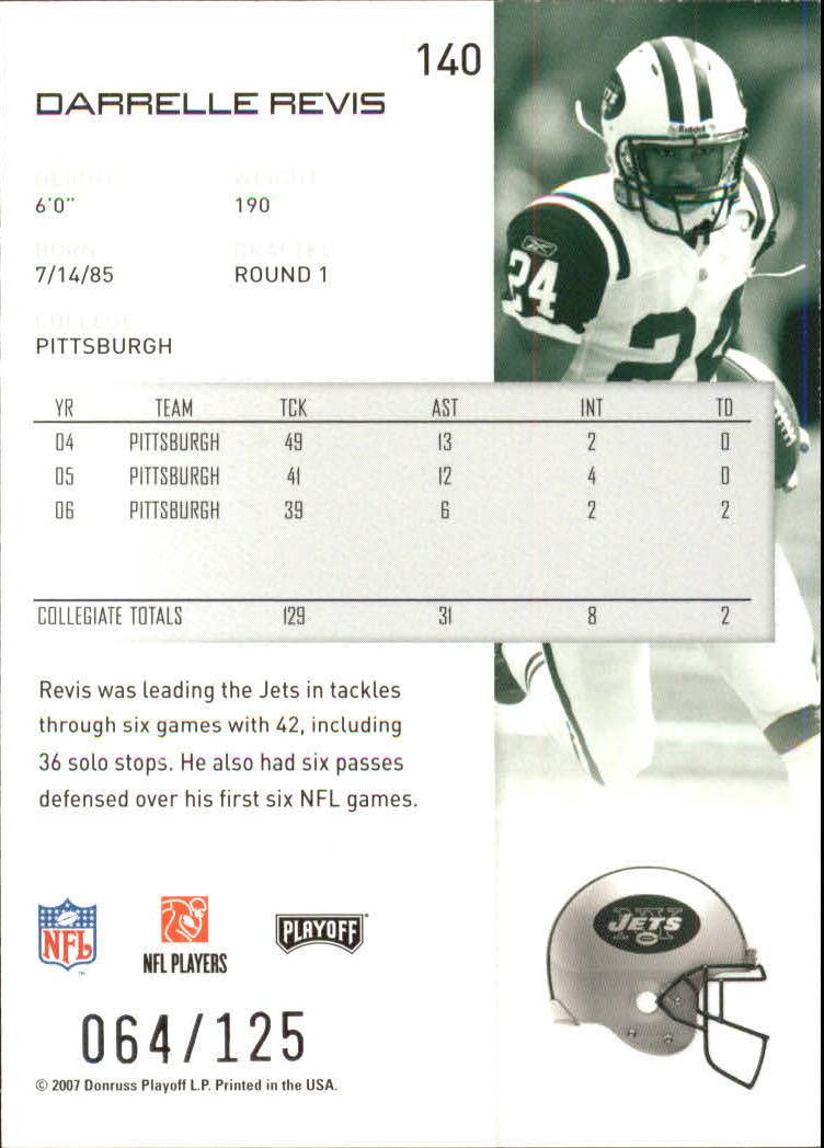 2007-Playoff-NFL-playoffs-Rojo-Metalizado-De-Futbol-Tarjeta-Pick miniatura 281