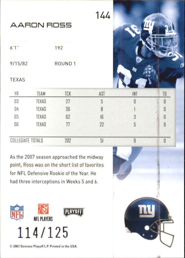 2007-Playoff-NFL-playoffs-Rojo-Metalizado-De-Futbol-Tarjeta-Pick miniatura 289