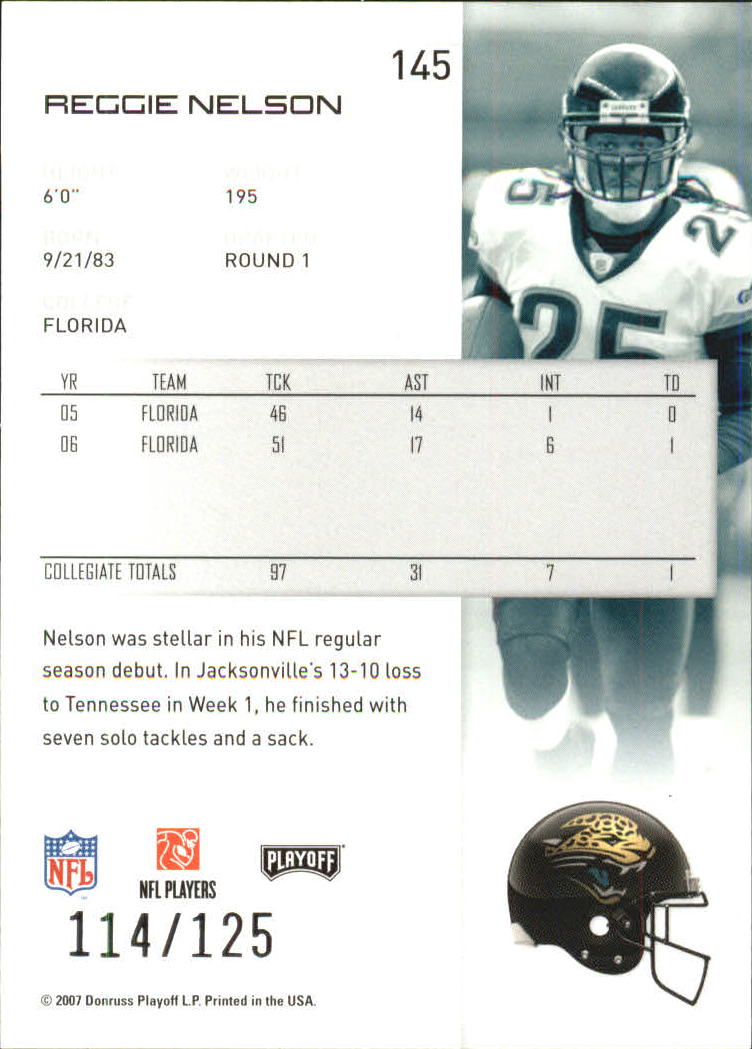 2007-Playoff-NFL-playoffs-Rojo-Metalizado-De-Futbol-Tarjeta-Pick miniatura 291