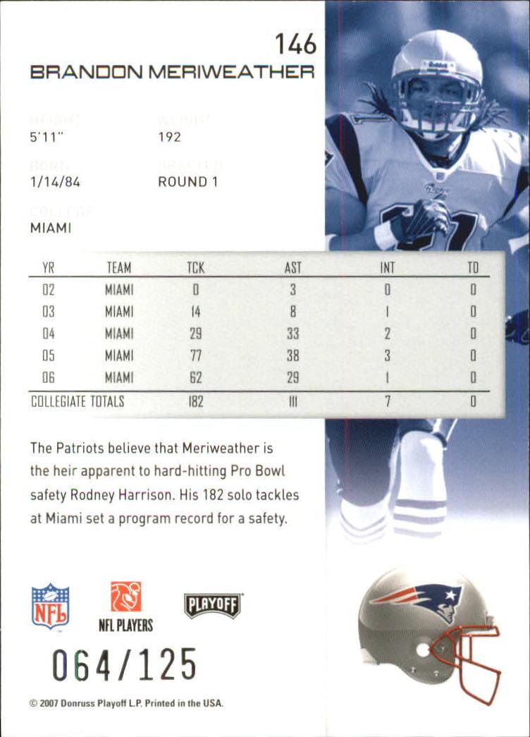 2007-Playoff-NFL-playoffs-Rojo-Metalizado-De-Futbol-Tarjeta-Pick miniatura 293