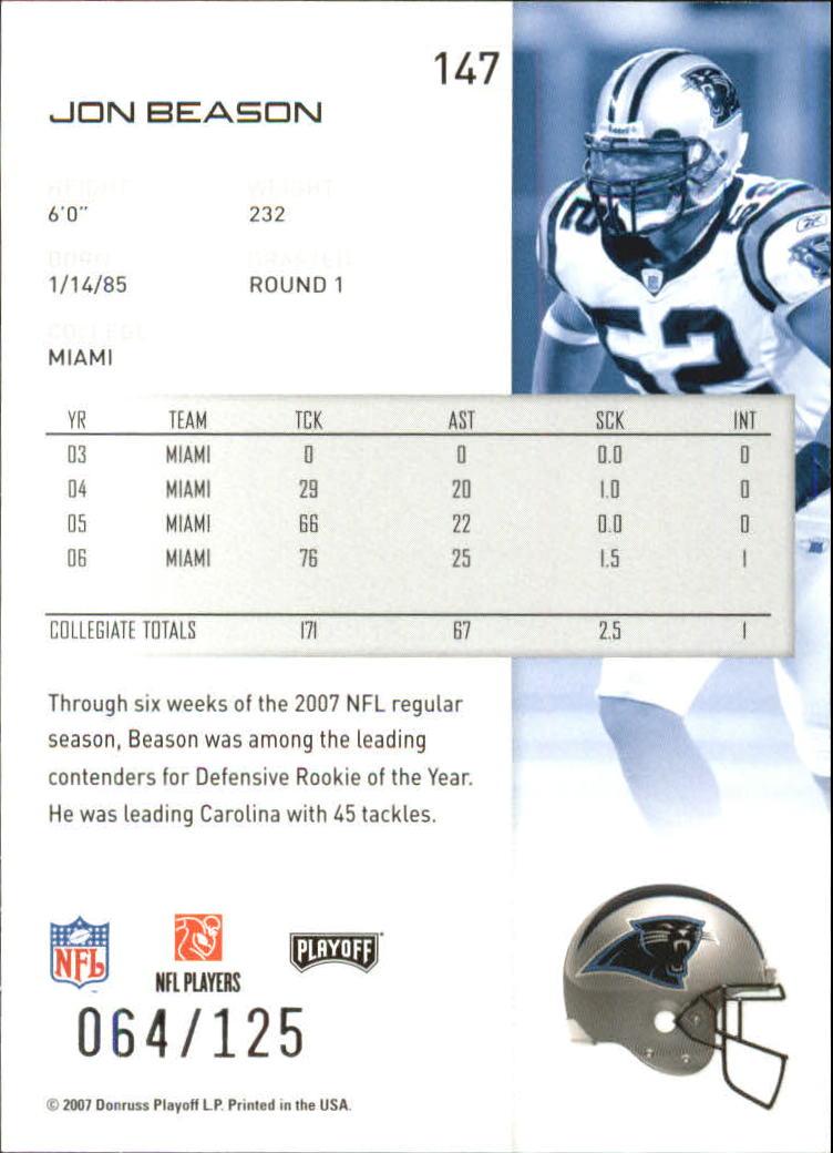 2007-Playoff-NFL-playoffs-Rojo-Metalizado-De-Futbol-Tarjeta-Pick miniatura 295