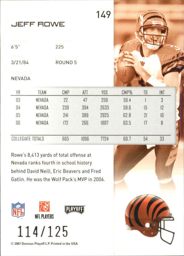 2007-Playoff-NFL-playoffs-Rojo-Metalizado-De-Futbol-Tarjeta-Pick miniatura 299