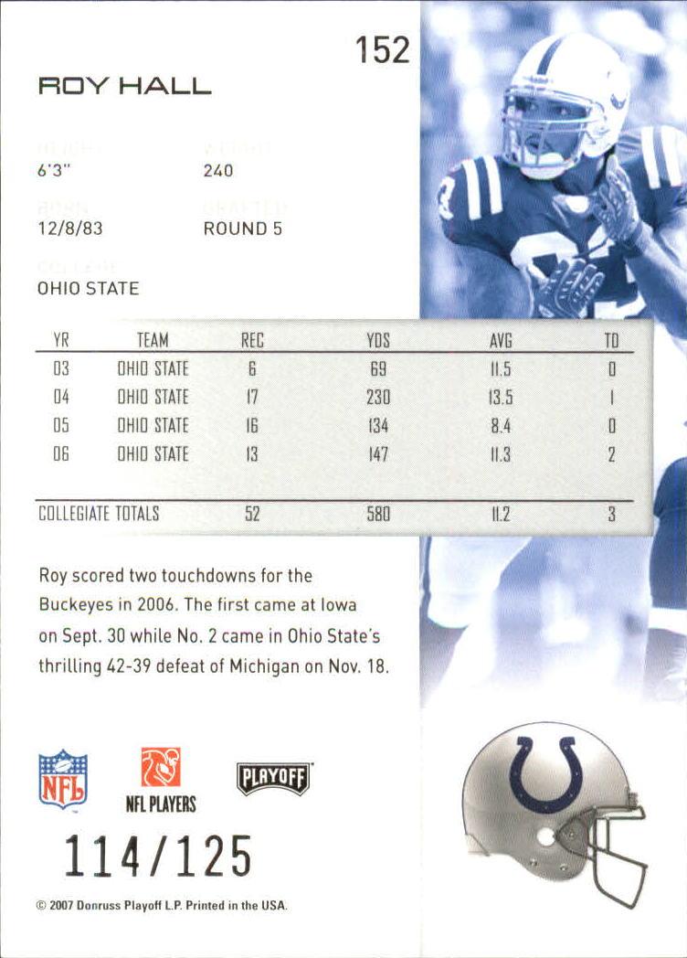 2007-Playoff-NFL-playoffs-Rojo-Metalizado-De-Futbol-Tarjeta-Pick miniatura 305