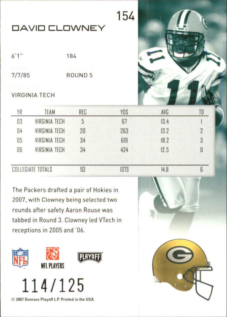 2007-Playoff-NFL-playoffs-Rojo-Metalizado-De-Futbol-Tarjeta-Pick miniatura 309
