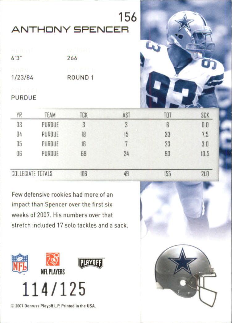 2007-Playoff-NFL-playoffs-Rojo-Metalizado-De-Futbol-Tarjeta-Pick miniatura 313