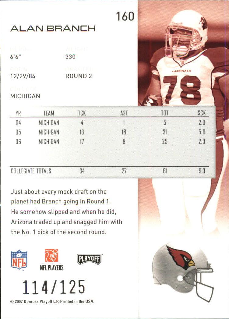 2007-Playoff-NFL-playoffs-Rojo-Metalizado-De-Futbol-Tarjeta-Pick miniatura 321