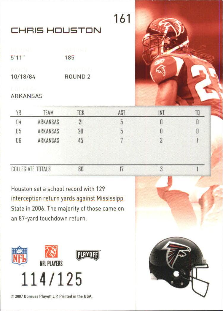 2007-Playoff-NFL-playoffs-Rojo-Metalizado-De-Futbol-Tarjeta-Pick miniatura 323