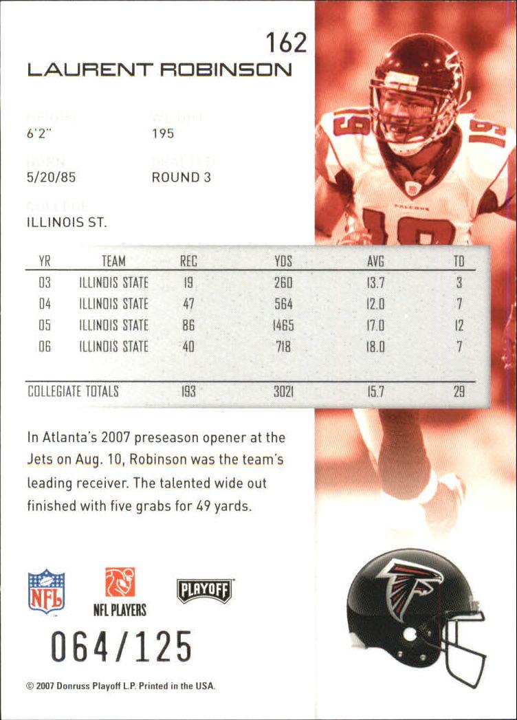 2007-Playoff-NFL-playoffs-Rojo-Metalizado-De-Futbol-Tarjeta-Pick miniatura 325