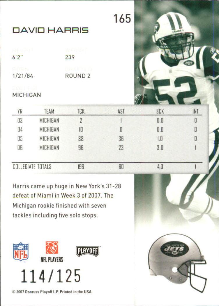2007-Playoff-NFL-playoffs-Rojo-Metalizado-De-Futbol-Tarjeta-Pick miniatura 331