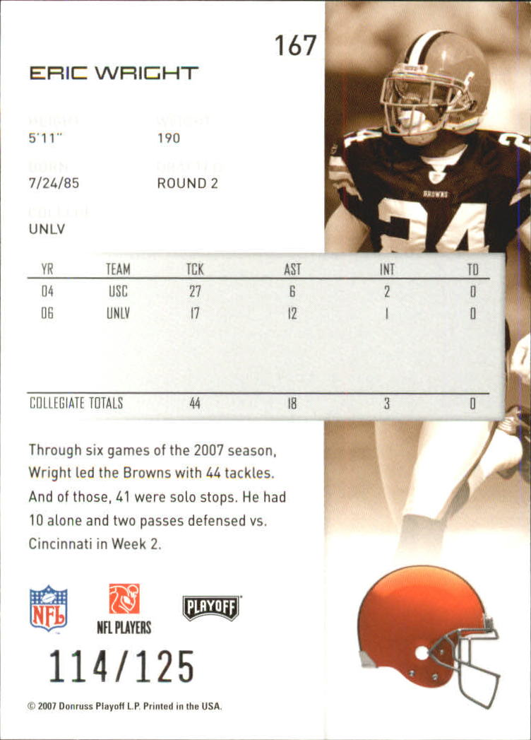2007-Playoff-NFL-playoffs-Rojo-Metalizado-De-Futbol-Tarjeta-Pick miniatura 335