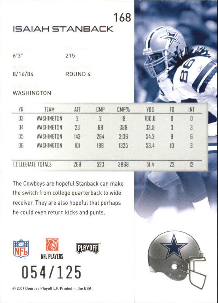 2007-Playoff-NFL-playoffs-Rojo-Metalizado-De-Futbol-Tarjeta-Pick miniatura 337