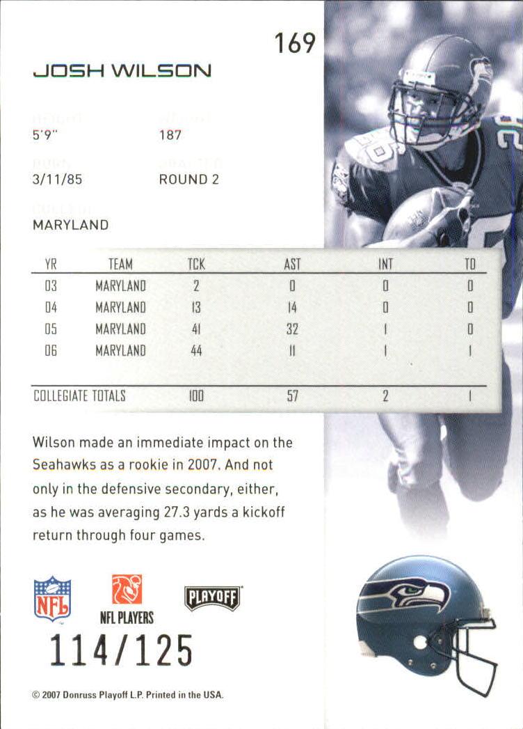 2007-Playoff-NFL-playoffs-Rojo-Metalizado-De-Futbol-Tarjeta-Pick miniatura 339