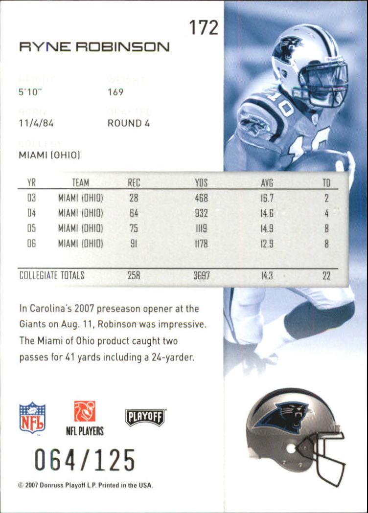 2007-Playoff-NFL-playoffs-Rojo-Metalizado-De-Futbol-Tarjeta-Pick miniatura 345