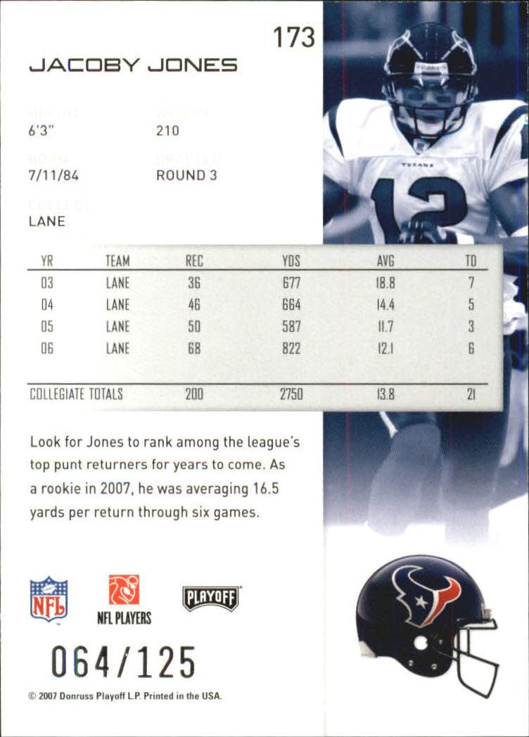 2007-Playoff-NFL-playoffs-Rojo-Metalizado-De-Futbol-Tarjeta-Pick miniatura 347