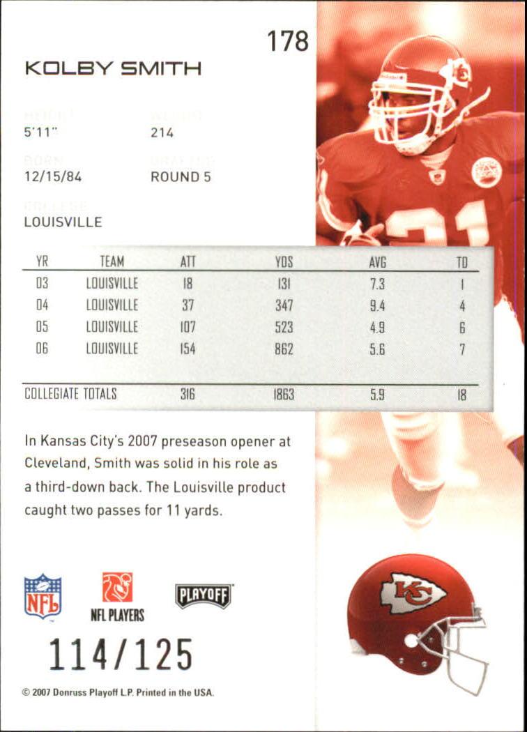 2007-Playoff-NFL-playoffs-Rojo-Metalizado-De-Futbol-Tarjeta-Pick miniatura 357