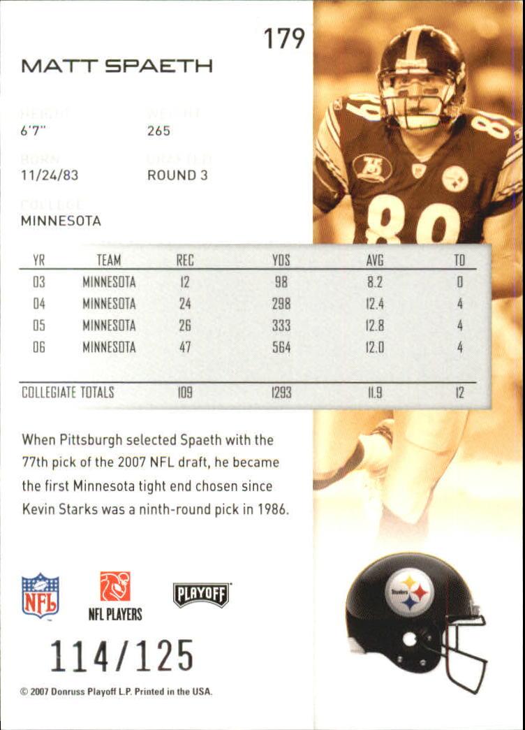 2007-Playoff-NFL-playoffs-Rojo-Metalizado-De-Futbol-Tarjeta-Pick miniatura 359