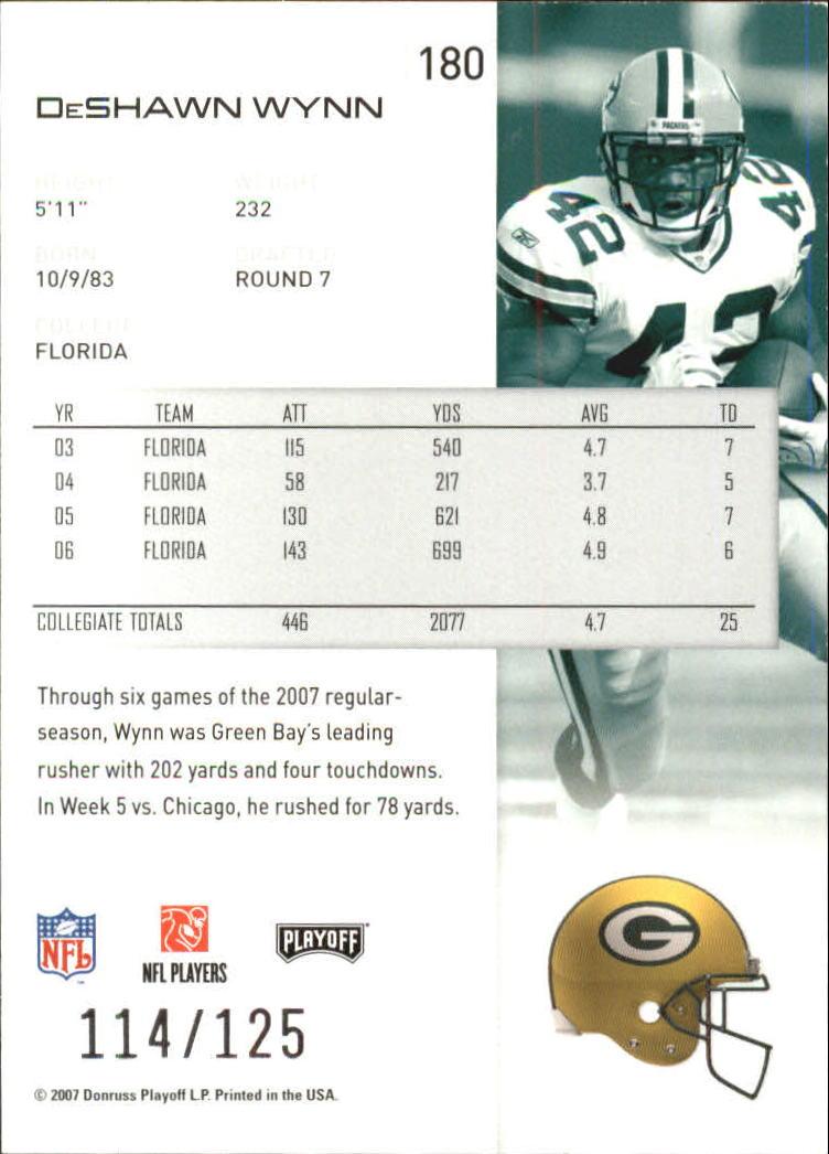 2007-Playoff-NFL-playoffs-Rojo-Metalizado-De-Futbol-Tarjeta-Pick miniatura 361