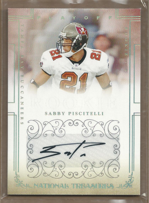 2007 Playoff National Treasures Signature Gold #187 Sabby Piscitelli